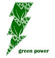 Green power vector image vector image