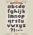 hand drawn alphabet set vector image vector image