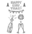 happy new year set vector image vector image