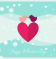 happy valentines day greeting card in modern flat vector image