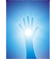 Healing hand with reiki lines vector image vector image
