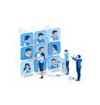 hiring best concept team recruitment vector image