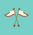 icon in flat design golf flags vector image vector image