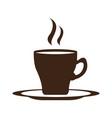 isolated coffee mug icon vector image