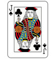 jack of clubs french version vector image vector image