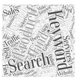 Keyword Research That Works Word Cloud Concept vector image vector image