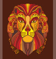 lion coloring book anti-stress vector image vector image
