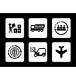 logistics concept icons set vector image vector image