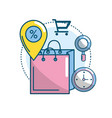 marketing ecommerce and technology business vector image vector image