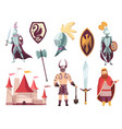medieval kingdom characters middle ages vector image vector image