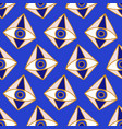 mediterranean geometric evil eyes seamless pattern vector image vector image