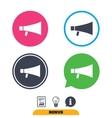 Megaphone sign icon Loudspeaker symbol vector image vector image