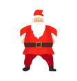 merry santa claus smiling cartoon old man in vector image vector image