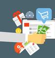 Modern digital shop concept Flat design vector image