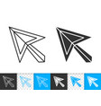 mouse cursor simple black line icon vector image vector image
