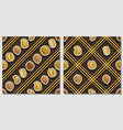 nut seamless patterns vector image vector image