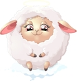 nyashnye sheep on a white background vector image