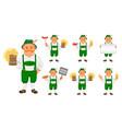 oktoberfest beer festival cheerful man vector image