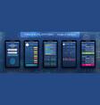 online banking cryptocurrency ui mobile platform vector image