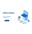 online webinar 3d lp template 2 vector image vector image
