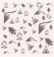 outdoor camping pattern vector image vector image
