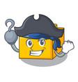 pirate plastic building blocks cartoon on toy vector image vector image