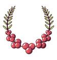 plant wreath icon cartoon style vector image