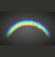 realistic rainbow abstract colorful rainbow vector image vector image