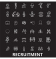 recruitment editable line icons set on vector image vector image