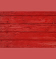red vintage painted wooden planks background vector image