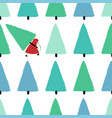 santa stealing christmas tree seamless pattern vector image vector image
