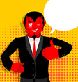 Satan hands shows thumbs up Sign all right Hand vector image