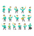set of sixteen different character design speaker vector image vector image