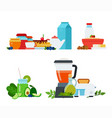 sets healthy breakfasts from different dishes vector image vector image