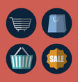 shopping related icons vector image vector image
