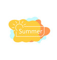 simple summer badge on colored blobs vector image vector image