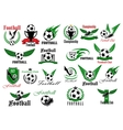 Sporting icons for football or soccer game design vector image