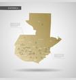 stylized guatemala map vector image vector image