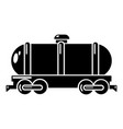 tank car icon simple style vector image vector image