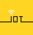 thin line black iot banner vector image