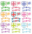 uk shields and ribbons vector image vector image