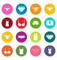 underwear items icons many colors set vector image vector image