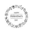valentine love round design template contour lines vector image vector image