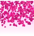 Valentine pink hearts background Holiday Red vector image vector image