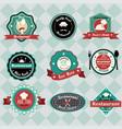 vintage restaurant labels vector image vector image