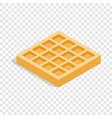 waffles isometric icon vector image