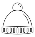 winter headwear icon outline style vector image vector image