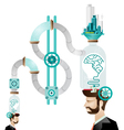 Think green human mind vector image