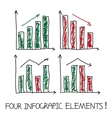 Set of our infographic elements vector image