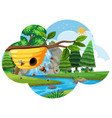 a beehive in nature vector image